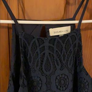 Navy blue lace dress size medium